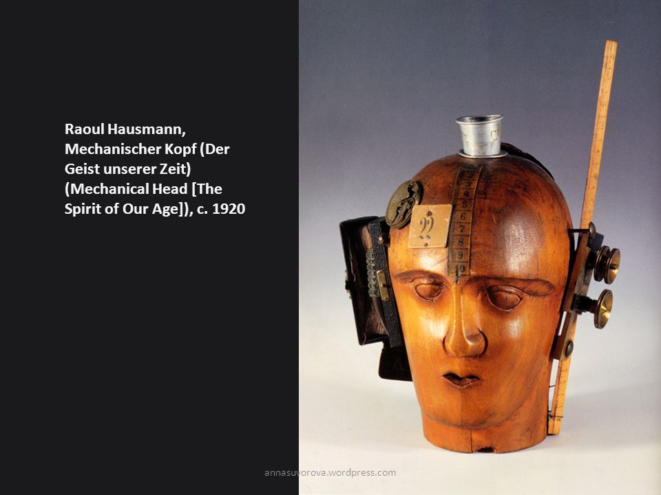 Raoul Hausmann, Mechanischer Kopf (Der Geist unserer Zeit) (Mechanical Head [The Spirit of Our Age]), c. 1920